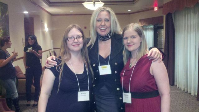 Kristin (My Bookish Ways), Kristen Painer (House of Comarr) and Chelsea (Vampire Book Club)