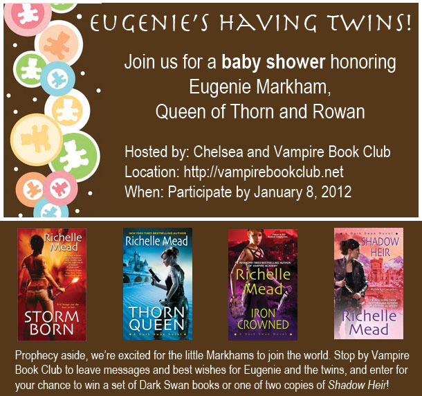 Baby Shower for Eugenie Markham (Richelle Mead's Dark Swan series)